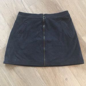 Abercrombie & Fitch Faux Suede Navy Skirt - size 4